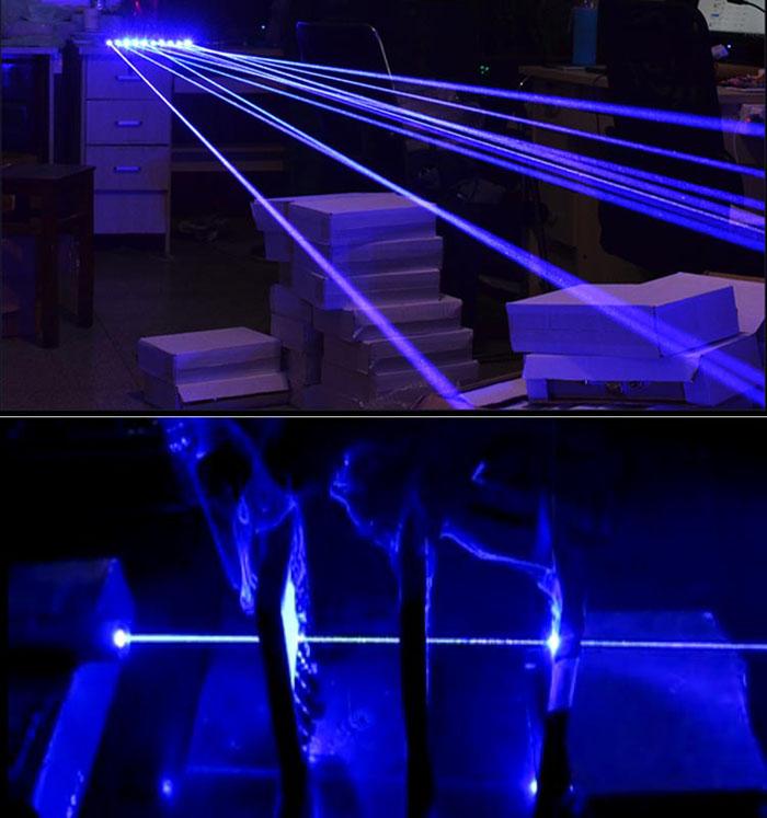 Blauer Laserpointer 2W